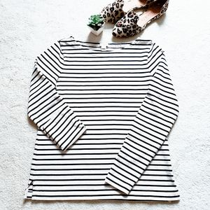 J.Crew Womens Striped Boatneck T-Shirt (Size S)
